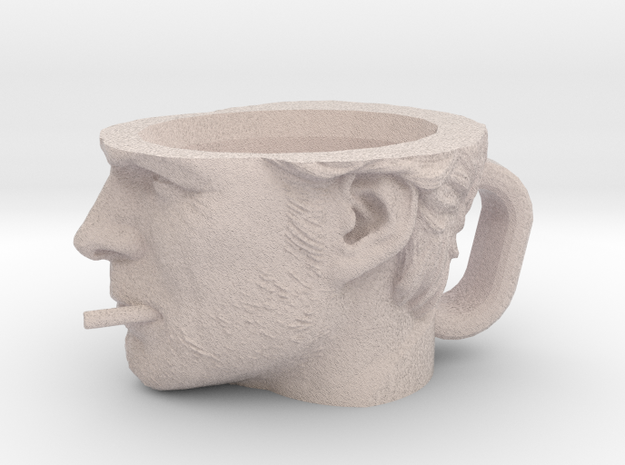Clint Eastwood Cup XL in Natural Full Color Sandstone