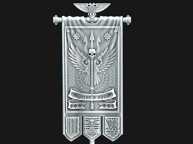 Spears of the Emperor Banner in Smooth Fine Detail Plastic: Medium