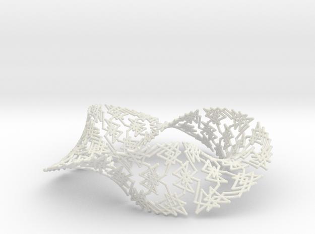 Knight's Tour on a Möbius Strip in White Natural Versatile Plastic