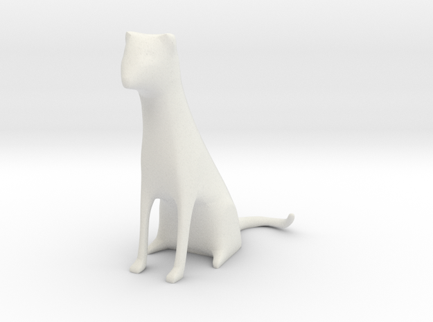 Cat Dog Stylized in White Natural Versatile Plastic