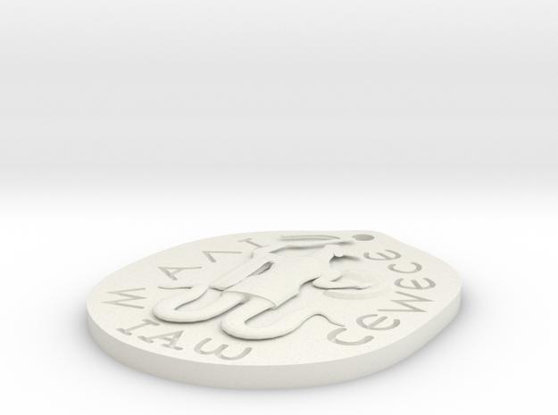 Abraxas Thick in White Natural Versatile Plastic