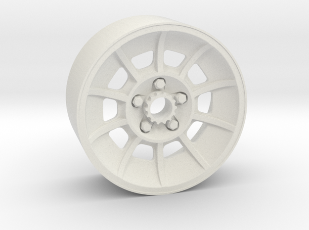 Make It RC 1/25 Scale General Lee Wheels 18x8mm in White Natural Versatile Plastic