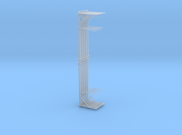 VR Stanchion 30mm 10 Pack 1:160 Scale in Smooth Fine Detail Plastic