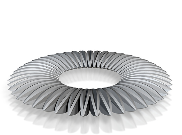 Calatrava Jewellery forms 141 80mm dia pendant 3d printed