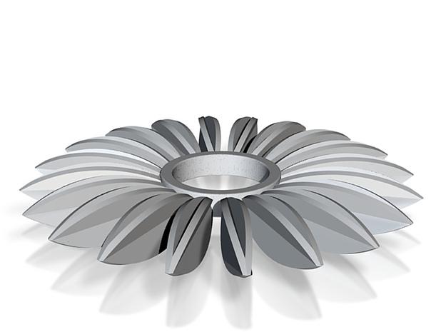 Calatrava Jewellery forms 138 50mm dia pendant 3d printed