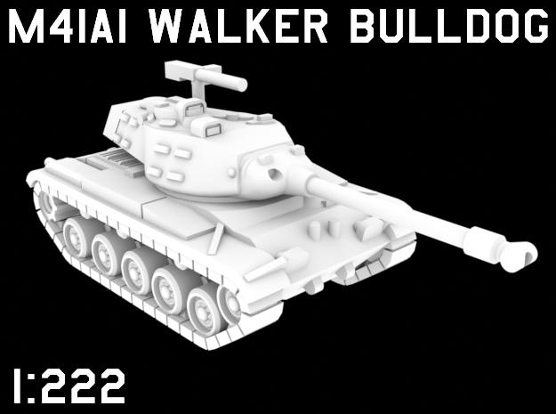 1:222 Scale M41A1 Walker Bulldog in White Natural Versatile Plastic