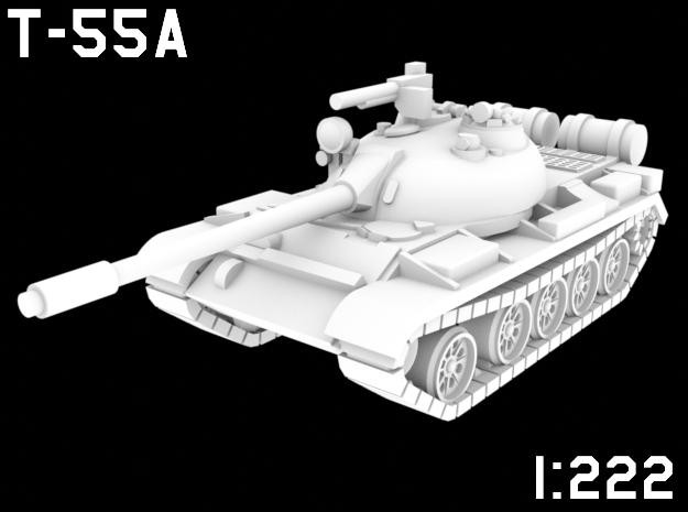 1:222 Scale T-55A in White Natural Versatile Plastic