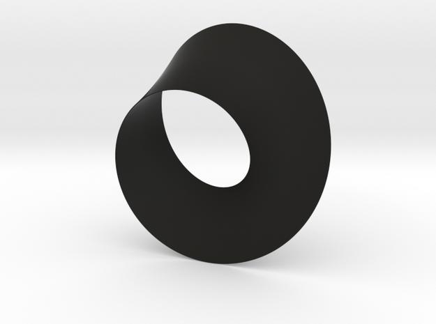 Moebius Bracelet in Black Natural Versatile Plastic