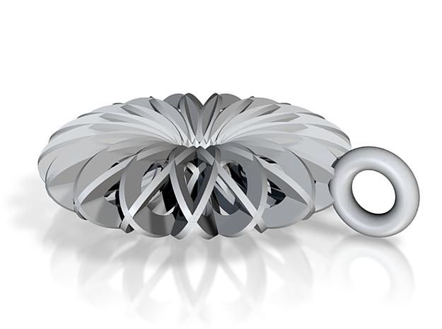 Calatrava Jewellery forms 144 60mm dia pendant 3d printed