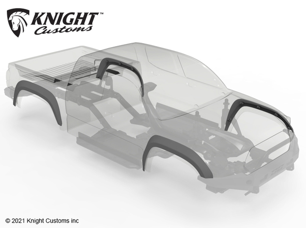 KCKR1046 Knight Runner High Clearance fender set in Black PA12