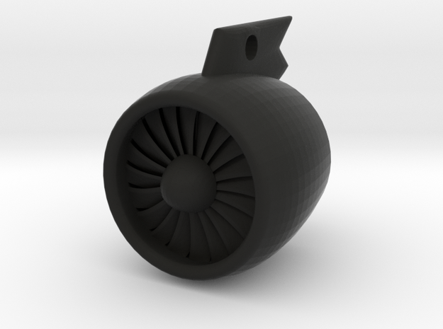 Airliner Engine Keychain 3d printed