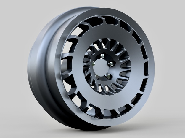 1/64 scale Rotiform CCV wheels 8mm - 4 sets in Smoothest Fine Detail Plastic