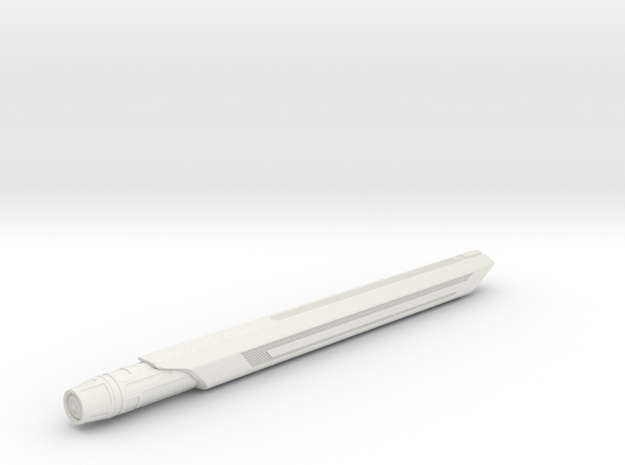 1/2500 California Class Nacelle (6.25 inch) in White Natural Versatile Plastic