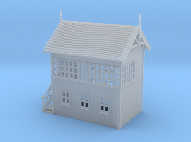 VR Signal Box #2 [Left Stairs] 1:160 Scale in Smooth Fine Detail Plastic
