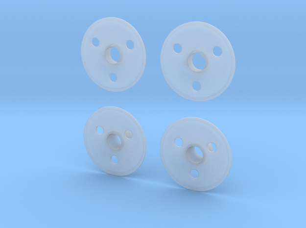 1/20 CART wheel covers in Smooth Fine Detail Plastic