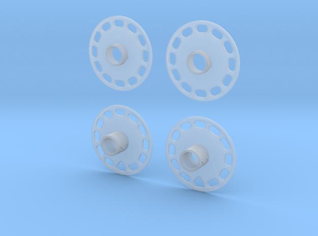 1/20 Penske wheel covers in Smooth Fine Detail Plastic