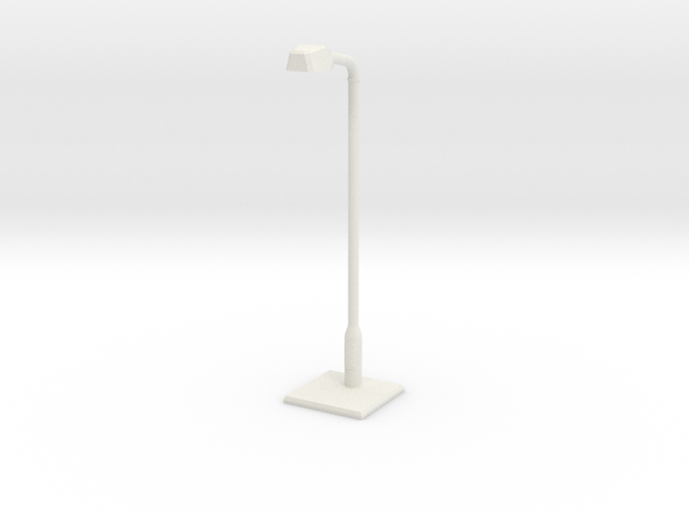 Modern urban lightpost in White Natural Versatile Plastic