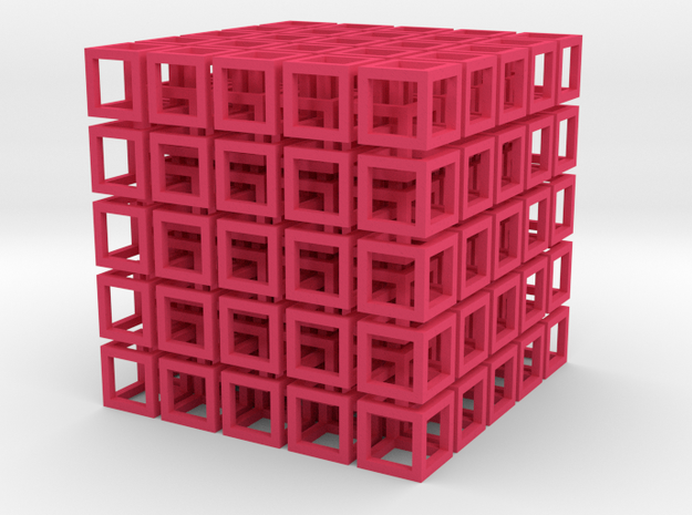 Cube Network Small 3d printed