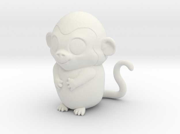 monkey_zodiac in White Natural Versatile Plastic