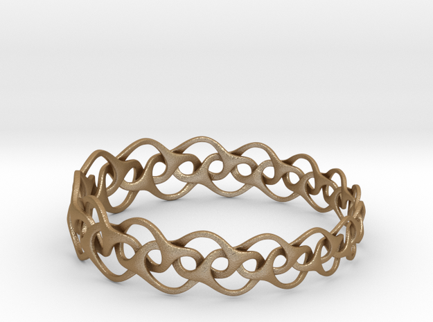 Bracelet I Medium 3d printed stainless steel