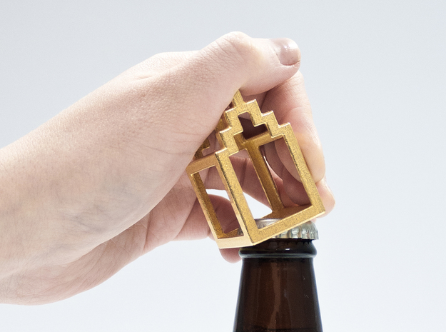Open Huis bottle opener - Trap Gevel in Stainless Steel