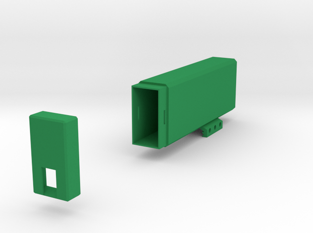 Plain Battery Box (Vertical Mount) in Green Strong & Flexible Polished