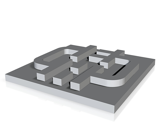 Edinburgh Hacklab Logo 3d printed