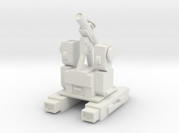 Perceptor WST Non-transforming Part 2 of 3 in White Natural Versatile Plastic