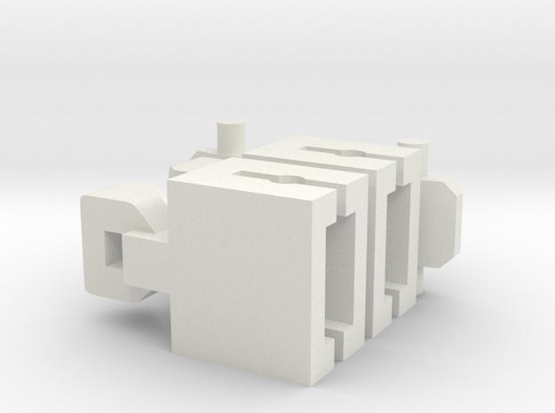 Vaste Koppeling Spoor N in White Strong & Flexible