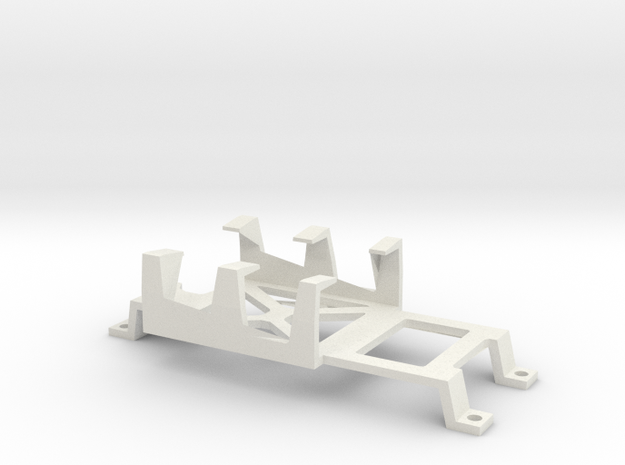 r-Type Battery Tray in White Natural Versatile Plastic