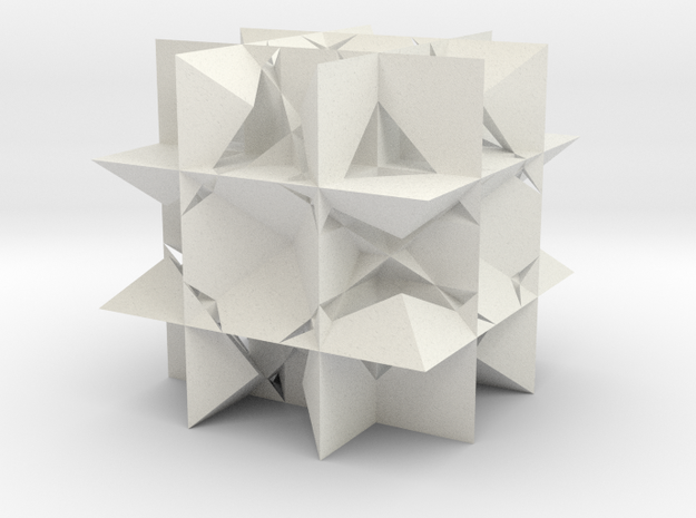 Great Rhombicuboctahedron in White Strong & Flexible