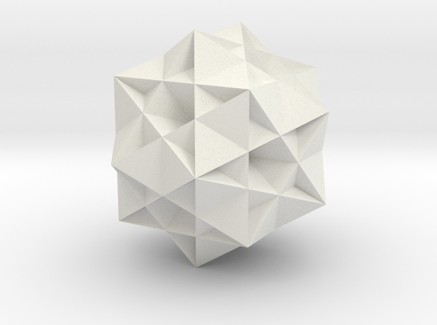 Great Ditrigonal Icosidodecahedron in White Strong & Flexible