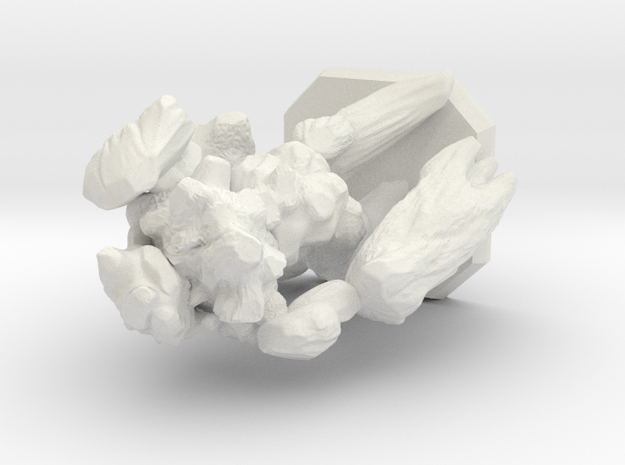 earth elemental miniature in White Natural Versatile Plastic