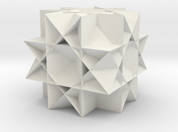 Uniform Gt. Rhombicuboctahedron in White Strong & Flexible
