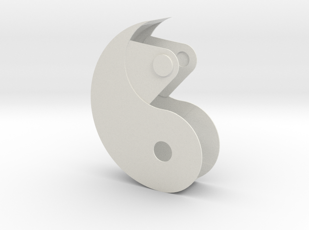 Yin Yang Box in White Natural Versatile Plastic