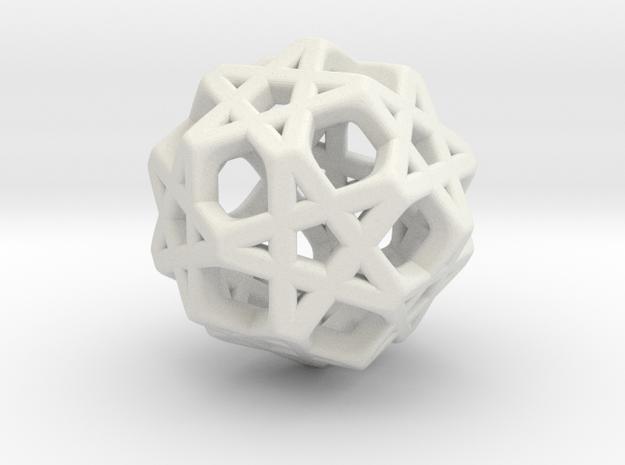 STAR-1.5cm ( improved ) in White Natural Versatile Plastic