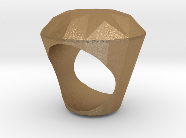 Ring - Big Diamond 3d printed