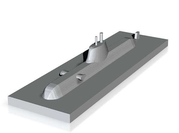 HDW 214 Submarine 1:2400 x1 3d printed