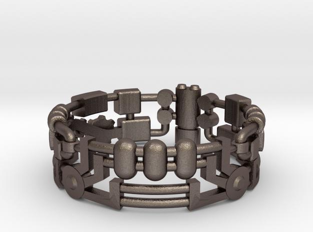 Mecha Ring (size 10ish in metal) 3d printed