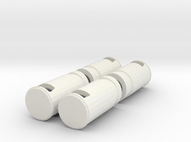 1:76th litter bin 2 sprue in White Natural Versatile Plastic