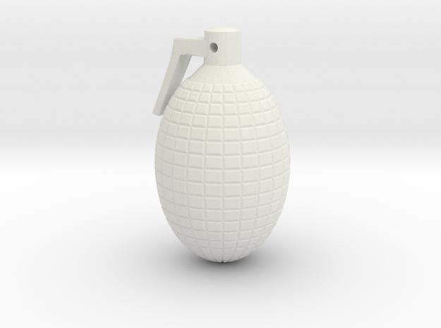 miniGrenade_002_charm.dae in White Natural Versatile Plastic