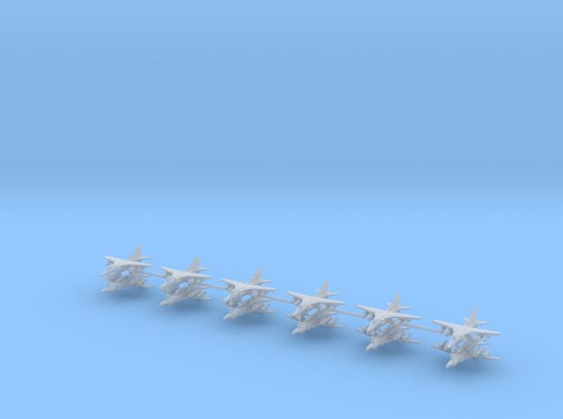 1/700 MIG-27 Flogger D/J (x12) in Smooth Fine Detail Plastic