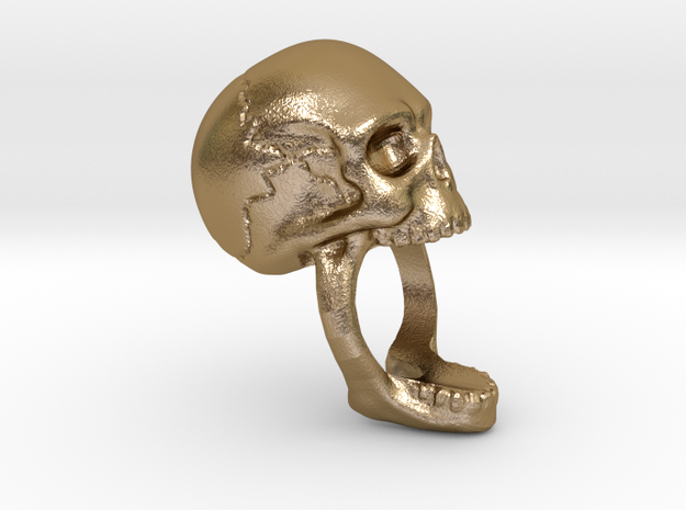 Skull Ring (size 7) 3d printed