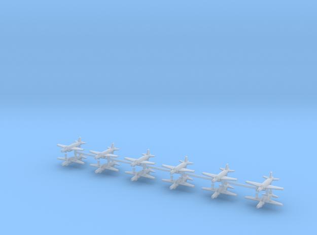 1/700 Supermarine Attacker F.1 (x12) in Smooth Fine Detail Plastic