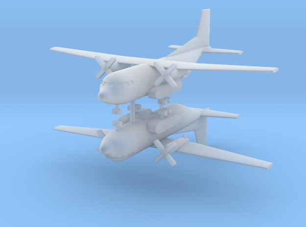 1/700 Transall C-160 (x2) in Smooth Fine Detail Plastic