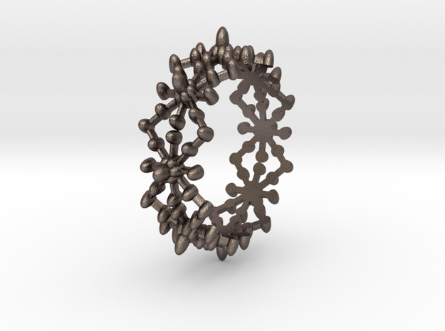 Water Ring in Polished Bronzed Silver Steel