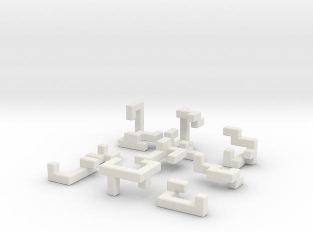 Switch Cube (2.4 cm) in White Natural Versatile Plastic