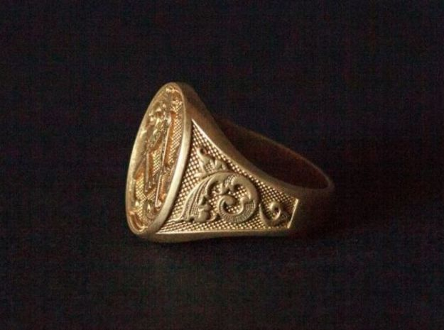 Masonic Signet Ring 3d printed