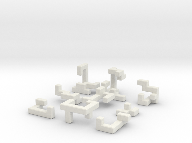 Switch Cube (3 cm) in White Natural Versatile Plastic