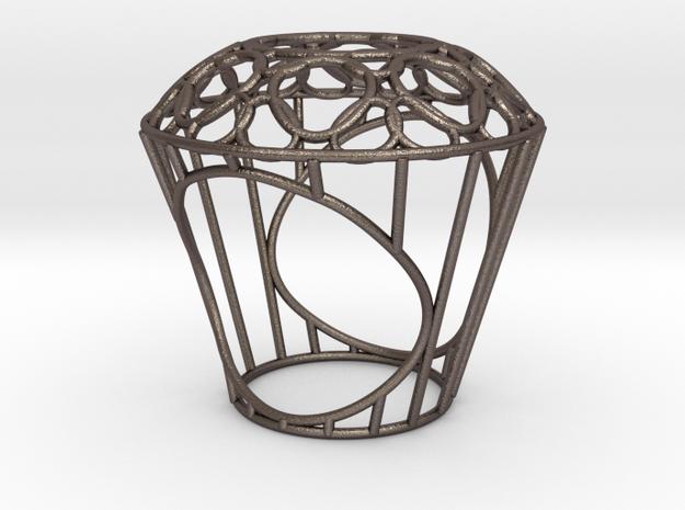 Ring - Big Diamond Wire 3d printed